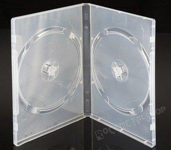 ETUI NA DWIE PŁYTY DVD-2 BEZBARWNE