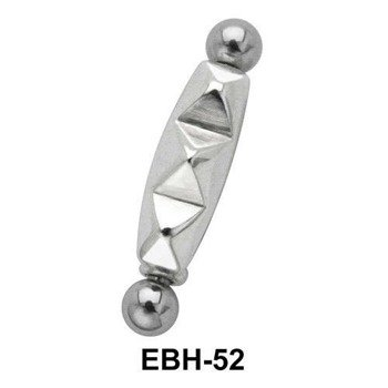 KOLCZYK PIERCING DO BRWI PYRAMID STUD 1,2mm dł. 12mm [EBH-52]