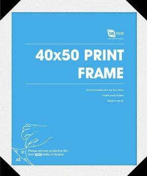 Rama do plakatu MINI 40x50 biała