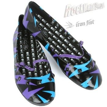 balerinki IRON FIST (Deathbolt Ballet Flat)(BLACK)   '09