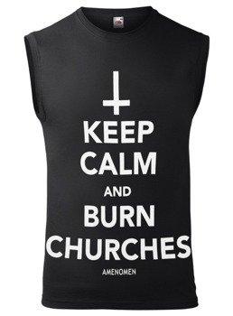 bezrękawnik AMENOMEN - KEEP CALM AND BURN CHURCHES (OMEN069BR)