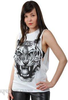 bezrękawnik damski TIGER WHITE