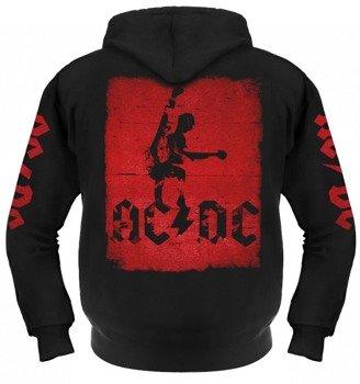 bluza AC/DC rozpinana, z kapturem