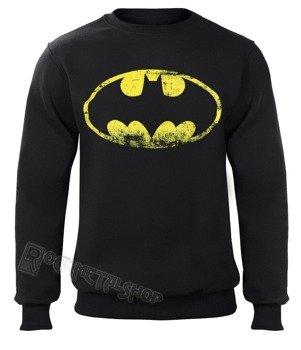 bluza BATMAN - DISTRESSED LOGO, bez kaptura