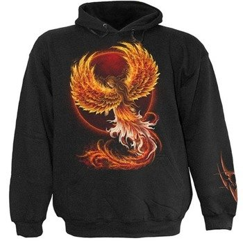 bluza BIRTH OF THE PHOENIX czarna, z kapturem