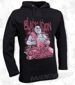bluza BLACK ICON - EXECUTION czarna z kapturem (BICON055)