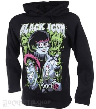 bluza BLACK ICON - SCOOBY czarna z kapturem