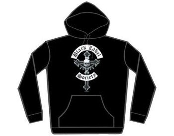 bluza  BLACK LABEL SOCIETY - CROSSGUNS ,czarna z kapturem