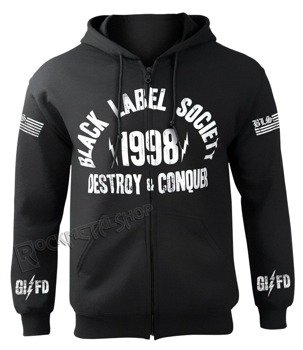 bluza BLACK LABEL SOCIETY - DESTROY AND CONQUER, rozpinana z kapturem