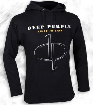 bluza DEEP PURPLE - CHILD IN TIME czarna, z kapturem