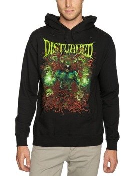 bluza  DISTURBED - POWER RAGE ,czarna, z kapturem