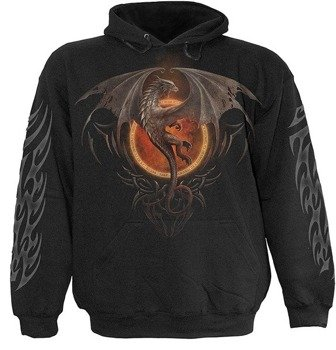 bluza DRAGON LORD czarna, z kapturem