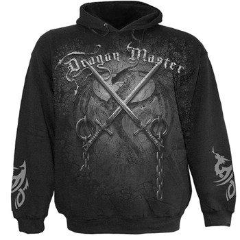 bluza DRAGON MASTER czarna, z kapturem