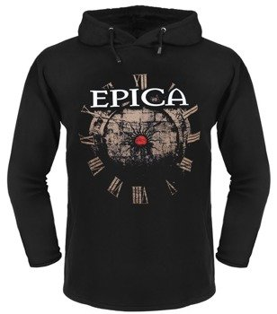 bluza EPICA - SOLITARY GROUND czarna, z kapturem