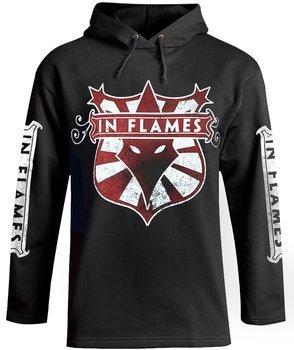 bluza IN FLAMES - LOGO czarna, z kapturem