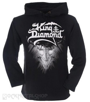 bluza KING DIAMOND czarna, z kapturem