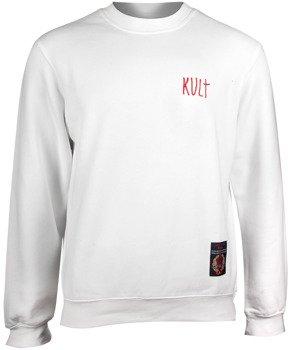 bluza KULT - LOGO biała, bez kaptura