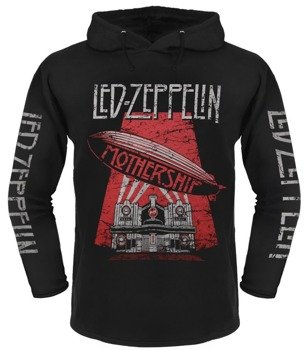 bluza LED ZEPPELIN - MOTHERSHIP czarna, z kapturem