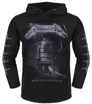 bluza METALLICA - RIDE THE LIGHTNING czarna, z kapturem