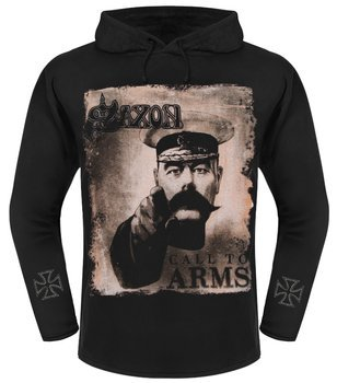 bluza SAXON - CALL TO ARMS czarna, z kapturem
