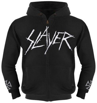 bluza SLAYER - LOGO rozpinana, z kapturem