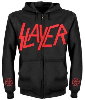 bluza SLAYER - WAR rozpinana, z kapturem