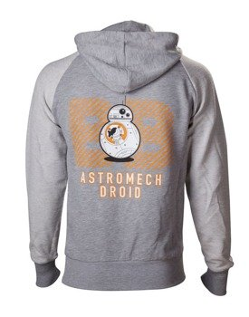 bluza STAR WARS - BB-8 ASTROMECH DROID, rozpinana z kapturem