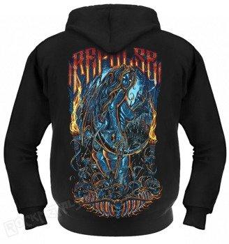 bluza THE DEVIL REJECT czarna, rozpinana z kapturem