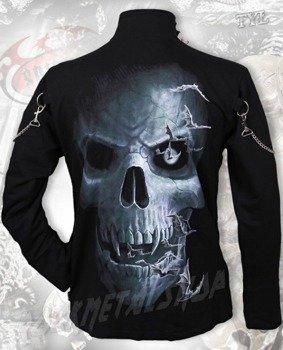 bluza ze stójką SPIRAL - SKULL CAVERN czarna