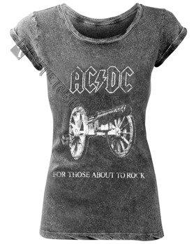 bluzka damska AC/DC - ABOUT TO ROCK ACID WASH