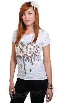 bluzka damska AC/DC - GRAFFITI LOGO biała