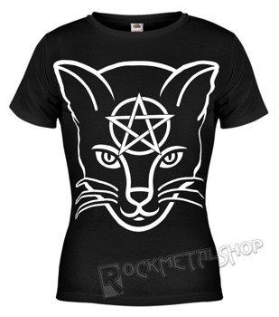 bluzka damska AMENOMEN - HEAD CAT (OMEN029DA BLACK)