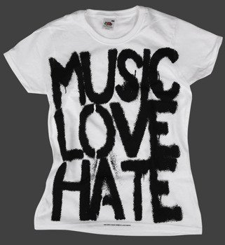 bluzka damska BLACK ICON - MUSIC, LOVE (DICON103 WHITE)