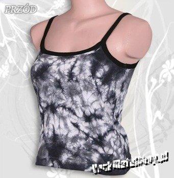 bluzka damska BLACK & WHITE barwiona, na ramiączkach