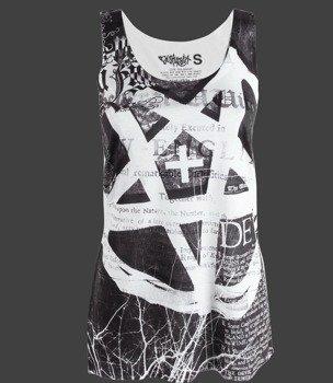 bluzka damska DISTURBIA - PENTAGRAM na ramiączkach