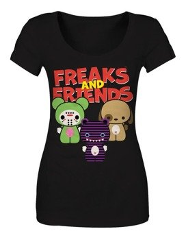bluzka damska FREAKS AND FRIENDS - FAMILY BLACK