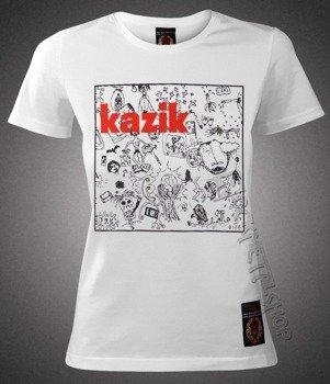 bluzka damska KAZIK - NA ŻYWO, ALE W STUDIO biała