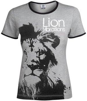bluzka damska LION VIBRATIONS szary melanż