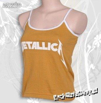 bluzka damska METALLICA - LOGO brudnożółta, na ramiączkach