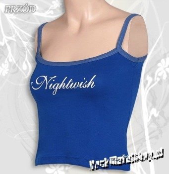 bluzka damska NIGHTWISH - LOGO niebieska na ramiączkach