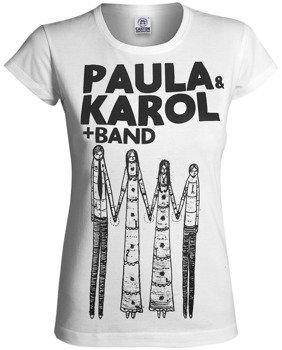 bluzka damska PAULA I KAROL - BAND biała