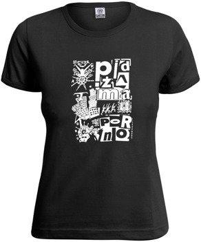 bluzka damska PIDŻAMA PORNO - FUTURISTA czarna