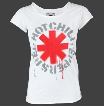 bluzka damska RED HOT CHILI PEPPERS - LOGO biała