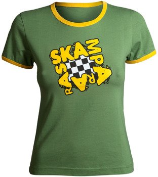 bluzka damska SKAMPARARAS - LOGO (zielono-żółta)