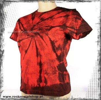 bluzka damska barwiona RED-BLACK