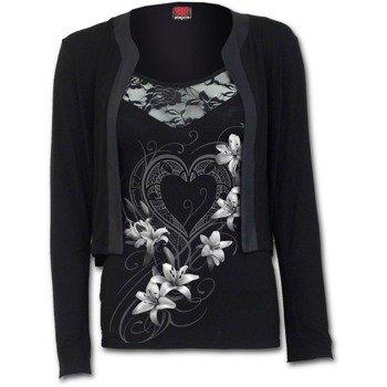 bluzka damska na ramiączkach + kardigan SPIRAL - PURE OF HEART