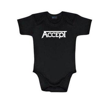 body dziecięce  ACCEPT - LOGO  black / white