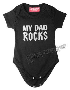 body dziecięce MY DAD ROCKS czarne