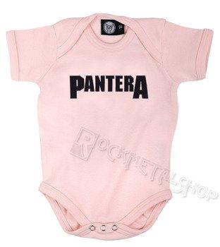 body dziecięce PANTERA - LOGO różowe