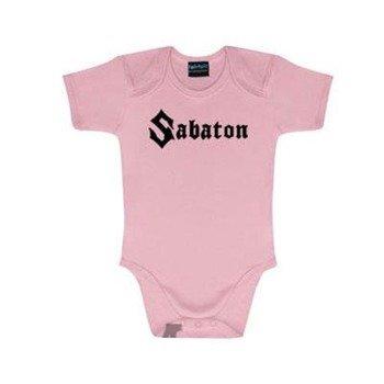 body dziecięce SABATON - LOGO pink